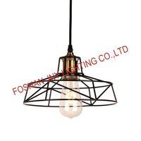 Vintage Lamp Shade, Retro Industrial DIY Black Metal Bird Cage Light Shade for Pendant Lights