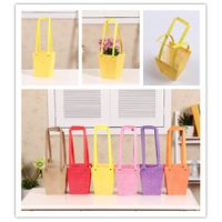Wholesale Multi-color Hexagonal Pattern Waterproof Flower Carry Bag Gift Bag PP Plastic Bag