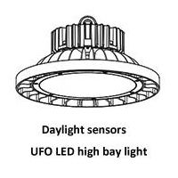 Daylight Sensors UFO LED High Bay Lights 100W, 150W, 200W