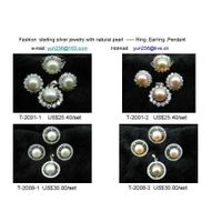 silver pearl jewelry set thumbnail image