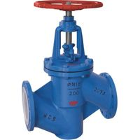 Teflon PFA lined Globe Valve for chemical