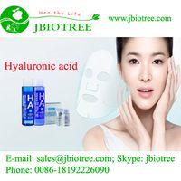 High quality cosmetics grade 99.99% Hyaluronic Acid, HA, Cas No.9004-61-9