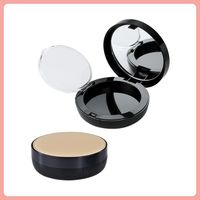 square compact powder case, compact case, cosmetics packaging