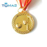Basketball game awarding sport souvenir gold medals