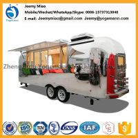 Hot Sale Electric Stainless Steel Mobile Catering Food Trailer Carts for sale