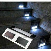 Durable Stainless Steel LED Solar Stair Light Smart Solar Step Light thumbnail image