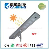 80W All in One Solar LED Street Light PIR Control System