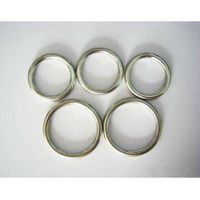 Welded metal rings connecting weled round shape ring link o ring
