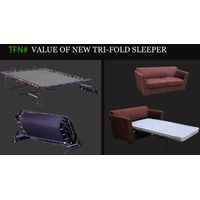 Thick mattress 3 fold sofabed mechanism TFN00 series thumbnail image