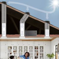 natural light rigid skylights tube daylight system