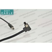 6P Male to Male Right Angle IEEE 1394 Firewire Cable for Security Vision Camera