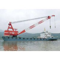 300t floating crane USD2.5million crane barge 300 ton cheap