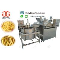 Continuous French Fries Frying Machine Price In India/Stainless Steel French Fries Deep Fryer Machin