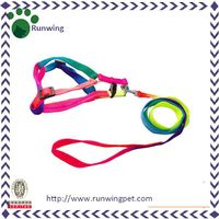 Colorful Rainbow Color Pet Leash and Harness thumbnail image