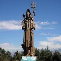 Buddhism temple decoration bronze lord shiva shakti statue