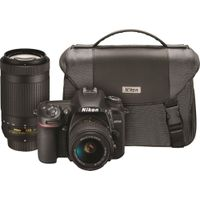 Nikon - D7500 DSLR Two Lens Kit with 18-55mm and 70-300mm Lenses - Black