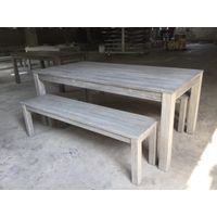 Acasia outdoor sets with whitish paiting