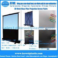 Excellent quality 3D Metal fiberglass projection screen fabric