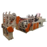 Full-automatic Four-roll Feeder Double Lines Cold Cutting T-shirt Bag Making Machine thumbnail image
