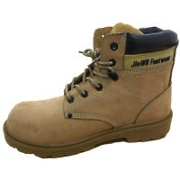 JWB Brown Genuine Leather Upper PU Sole Safety Footwear for Workplace Using thumbnail image