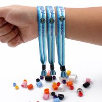 Festival woven wristband with metal tube or plastic uni-directly buckle thumbnail image