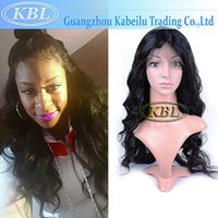 Silk Base Front Lace Wig Loose Wave Virgin Hair With Baby Hair