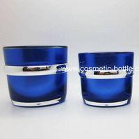 Blue Color Acrylic Cosmetic Cream Jar (FB-03-J50)