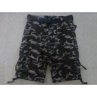 Military camouflage shorts in stock