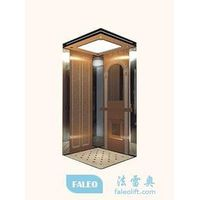 Luxurious Elevator with Stainless Steel Glass Mirror PVC Marble Floor