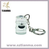 Acrylic Resin Oil Barrel Keychain Promotion Gift Factory