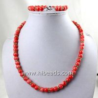 17 pink coral necklace sets wholesale thumbnail image