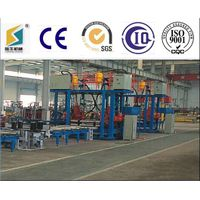 Horizontal h beam assembly machine