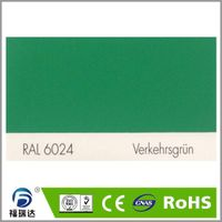 RAL6024 traffic green high glossy hybird powder coating