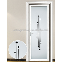 Wholesale Aluminum Alloy Toilet Door, 100% Cheap Interior Finished Bathroom Door thumbnail image