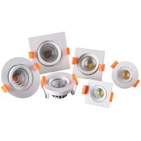 led spot light/downlight 3W round/square