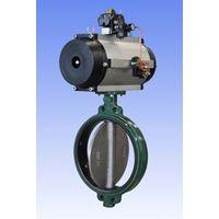 Pneumatic butterfly valve, wafer butterfly valve