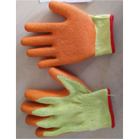 10gauge2threads yellow polycotton liner with orange latex crinkle finished palm coating glove