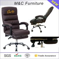 M&C customer logo printed lazy boy recliner sleeping chair