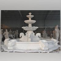 Large size garden marble fountain