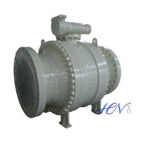 A216 WCB Flanged Electric Actuated Trunnion Mounted Ball Valve thumbnail image