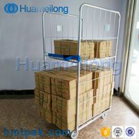 Galvanized 2 sides collapsible detachable wholesale supermarket metal wire mesh roll container thumbnail image