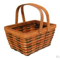Handle woodchip basket for gift packing