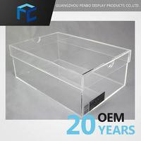 wholesale empty transparent clear acrylic mini custom made shoe box