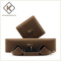 Velvet jewelry box full set with fastener
