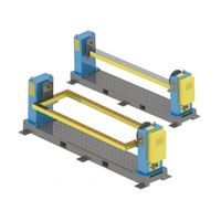 Single Axis Welding Positioner Head And Tail Frame