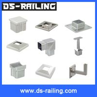 China manufacturer Cs04 50.8mm / 38.1mm aluminium square pipe fittings thumbnail image