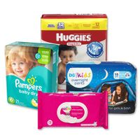 Adult and Baby Diapers and nappies Pampers