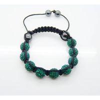 shamballa bracelet Monochrome Series #A17 green black