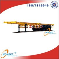 40T Tri-axle Skeletal Semi Trailer with 2-axle and 3-axle