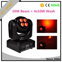 DJ mini double face 10W beam +40W wash RGBW 4IN1 moving head lights